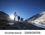 mountaineers walking in the... | Shutterstock . vector #388808098