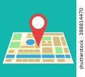 navigation geolocation icon.... | Shutterstock . vector #388814470