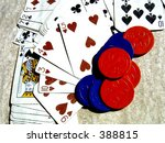 poker chips and cards | Shutterstock . vector #388815