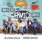 service server support utility... | Shutterstock . vector #388818400