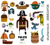 Vector Set Of Pirate Items ...