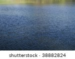 A water background photo with rich blue tones and contrast. - stock photo