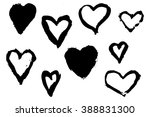 hand drawn hearts with paint... | Shutterstock .eps vector #388831300