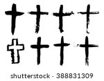abstract cross or crucifix  ... | Shutterstock .eps vector #388831309