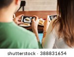 point of view of a young couple ...   Shutterstock . vector #388831654