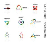 set of linear arrow abstract... | Shutterstock .eps vector #388841014