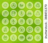 line web ecology energy power...   Shutterstock .eps vector #388851370