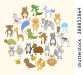 vector set. cute animals | Shutterstock .eps vector #388852864