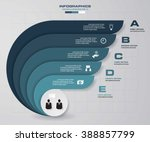 5 steps presentation template 5 ... | Shutterstock .eps vector #388857799