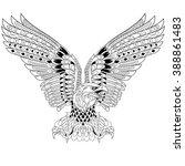 zentangle stylized cartoon...   Shutterstock .eps vector #388861483