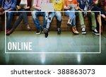 online internet website... | Shutterstock . vector #388863073