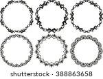set of decorative decorative... | Shutterstock .eps vector #388863658