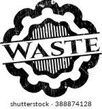 waste grunge stamp | Shutterstock .eps vector #388874128