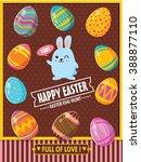 vintage easter egg poster design   Shutterstock .eps vector #388877110
