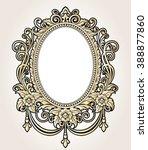 vector vintage border frame... | Shutterstock .eps vector #388877860