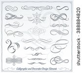 collection of calligraphic... | Shutterstock .eps vector #388884820