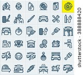 car service maintenance icons... | Shutterstock .eps vector #388888420