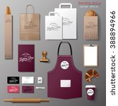 vector bakery corporate... | Shutterstock .eps vector #388894966