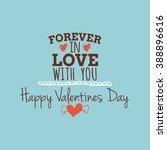 happy valentine day | Shutterstock .eps vector #388896616