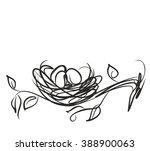 vector  poultry  eggs  bird ... | Shutterstock .eps vector #388900063