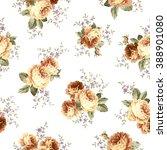 rose flower pattern  | Shutterstock .eps vector #388901080