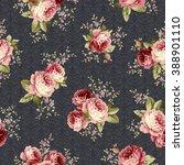rose flower pattern  | Shutterstock .eps vector #388901110
