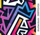 rainbow maze seamless pattern.   Shutterstock .eps vector #388901416