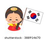 little girl wearing traditional ...