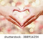 abstract heart shaped with a... | Shutterstock . vector #388916254