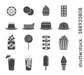 dessert snack and drinking icon   Shutterstock .eps vector #388920808