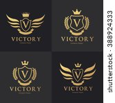 victory logo crest logo vector... | Shutterstock .eps vector #388924333