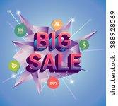big sale discount  vector... | Shutterstock .eps vector #388928569