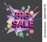 big sale discount  vector... | Shutterstock .eps vector #388928578
