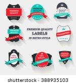 vector premium quality label... | Shutterstock .eps vector #388935103