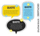 quotes design template | Shutterstock .eps vector #388956580