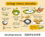 home cooking recipe. cottage... | Shutterstock .eps vector #388963498