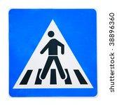 zebra crossing traffic highway... | Shutterstock . vector #38896360