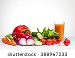 vegetables on the white... | Shutterstock . vector #388967233
