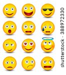 set of emoticons. isolated... | Shutterstock .eps vector #388972330