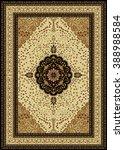 carpet border frame pattern  | Shutterstock . vector #388988584