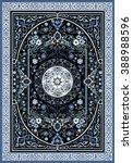 carpet border frame pattern  | Shutterstock . vector #388988596