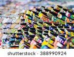 various colorful bracelets on... | Shutterstock . vector #388990924