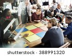 business team meeting project... | Shutterstock . vector #388991320