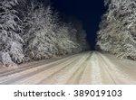 Night View On Vanishing Snow...