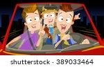 vector cartoon characters in... | Shutterstock .eps vector #389033464