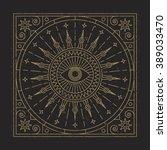 mandala. abstraction. linear... | Shutterstock .eps vector #389033470