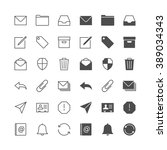 email icons  included normal...   Shutterstock .eps vector #389034343