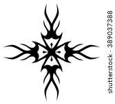 tribal tattoo design  vector... | Shutterstock .eps vector #389037388