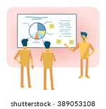illustration of a paper man... | Shutterstock .eps vector #389053108