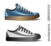 photo realistic sports shoes... | Shutterstock .eps vector #389054314